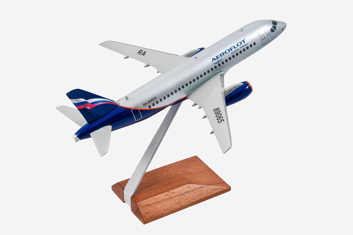 Aeroflot Superjet-100 desktop airplane model