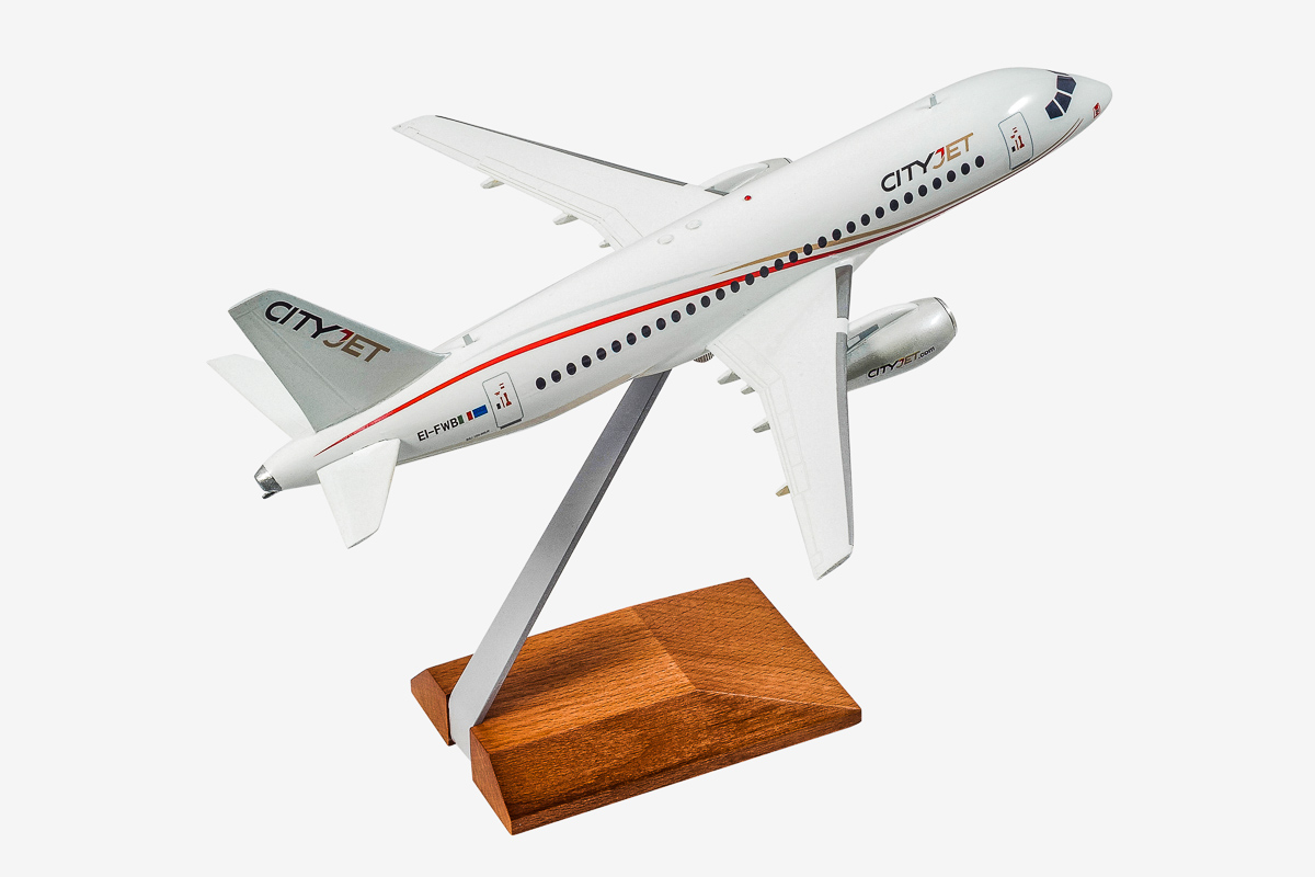 CityJet Superjet-100 desktop airplane model