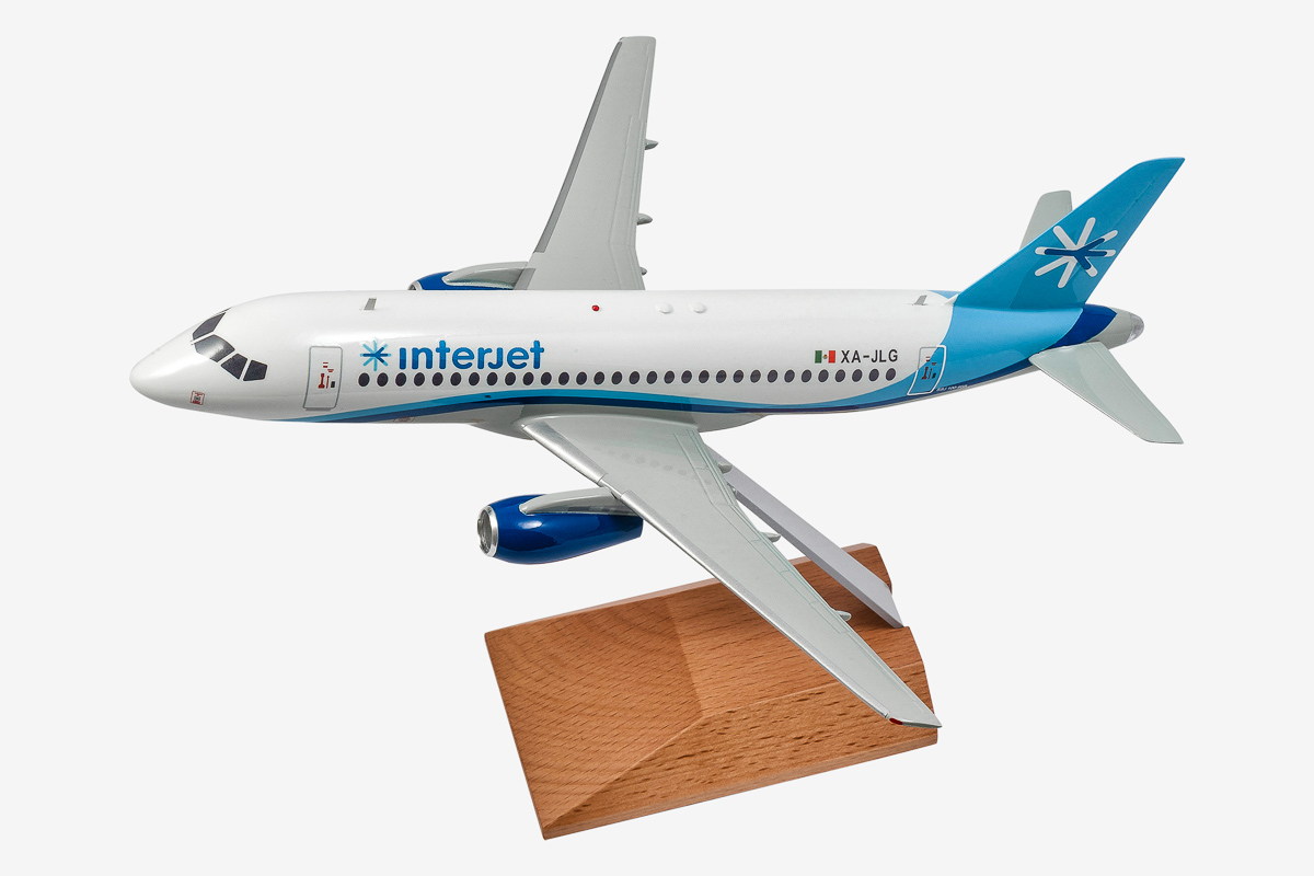 Interjet Superjet-100 Desktop Airplane Model