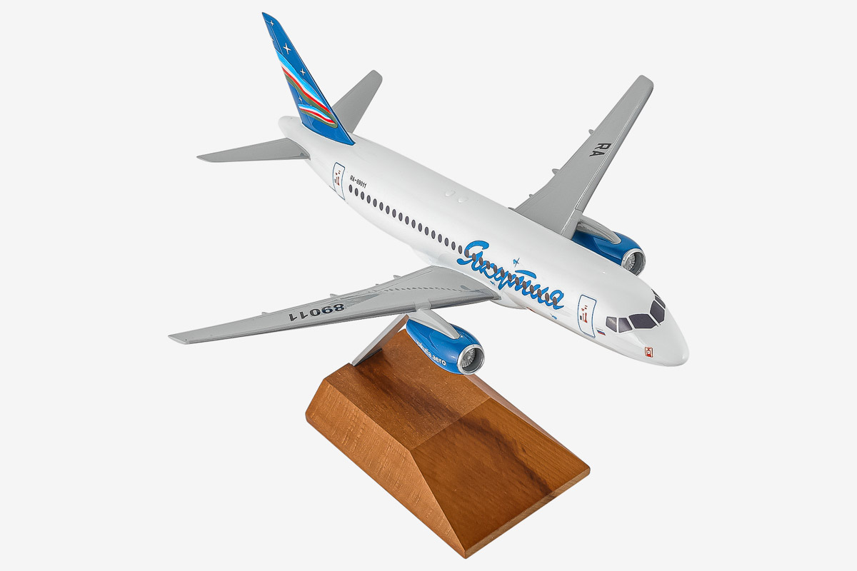 Yakutia Superjet-100 Desktop Airplane Model